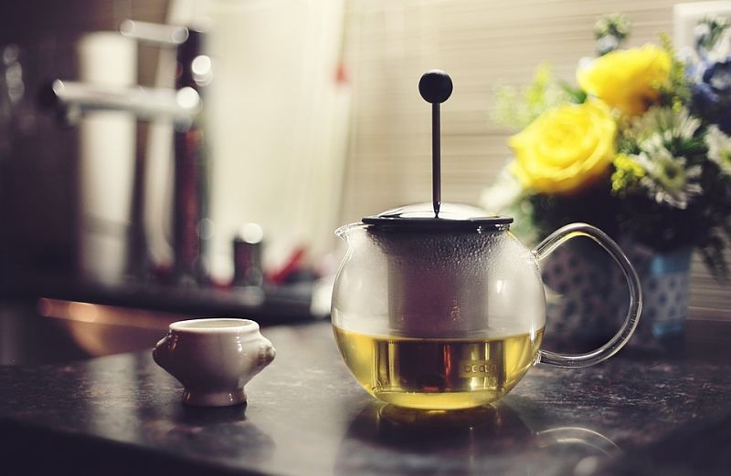 Enjoy green tea to feel love