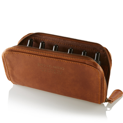 Leather travel wallet for emotional relief