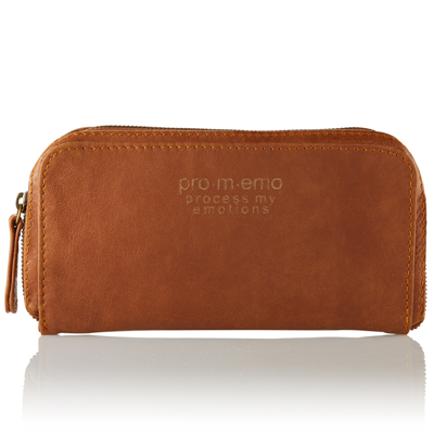 Promemo genuine leather travel wallet for emotions