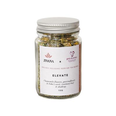 Nervine organic herbal tea with passionflower, chamomile and saint John's wort