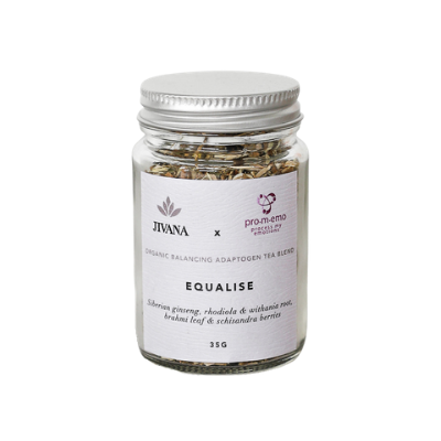 Adaptogen organic herbal tea withania, rhodiola and ginseng